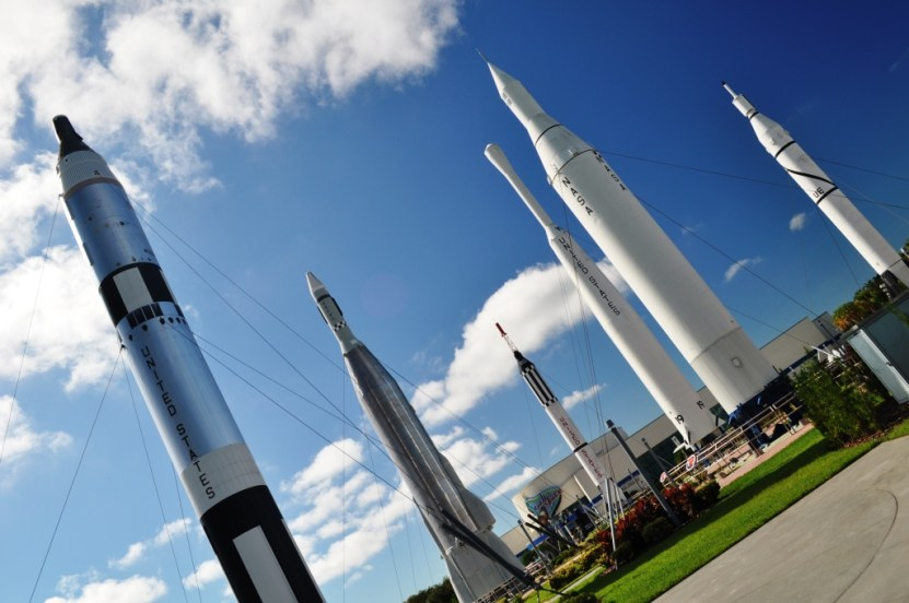 Rocket Garden at the Kennedy Space Center Visitor Complex, Fla.