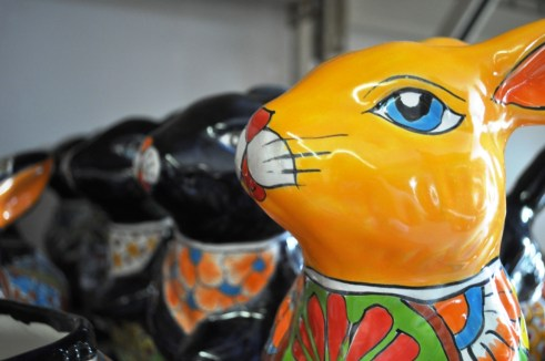 """These Rabit Planters from Mexico Had Me at """"Hello."""" Pottery Express, Punta Gorda, Fla."""