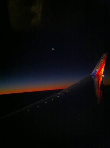 Ribbon of Red Sunrise Over South Florida, Dec. 22, 2011