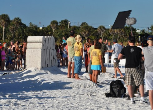 Sand Wars Contestants on Siesta Key, Florida, Dec. 17, 2011