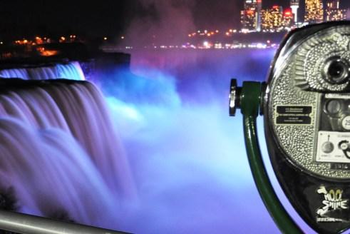 Niagara Falls U.S.A. Glows at Night, Dec. 26, 2011