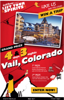"""Grand Marnier Running Contest to """"Lift Your Spirits"""" with Vail Ski Trip"""