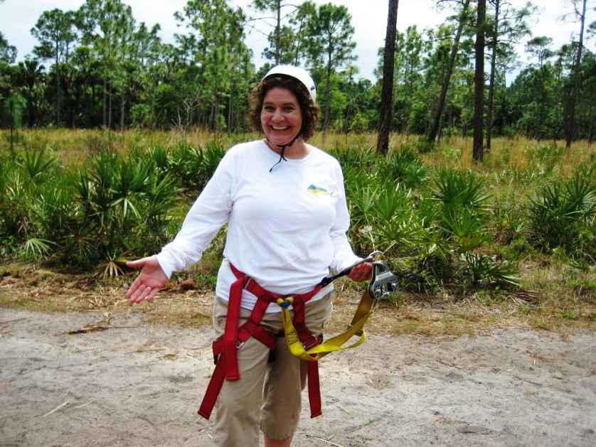 About to Try the Ziplining Adventure at Florida EcoSafaris, March 2009