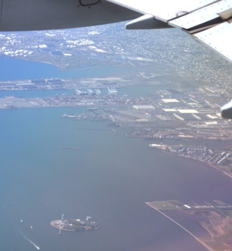 Saying Goodbye to New York and the Statue of Liberty, April 2012