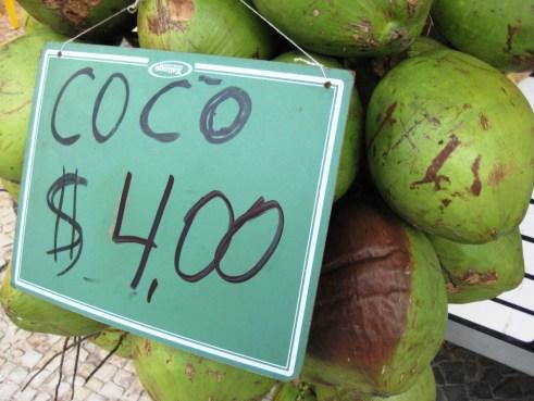 Refreshing Coco Gelado in Rio