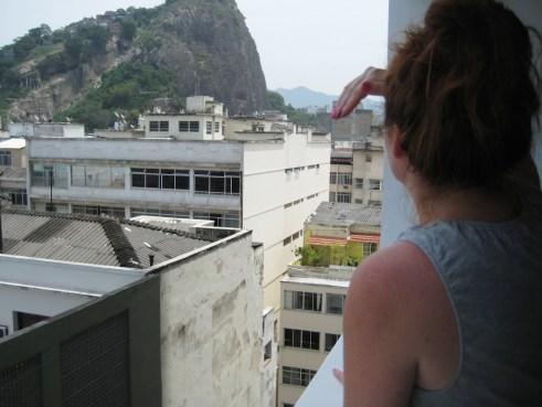 My Sister Lizzy Enjoying the View of Rio de Janeiro, Brazil