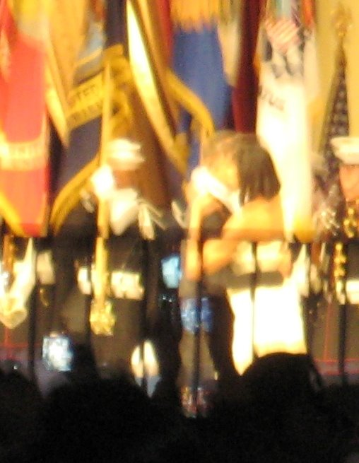 Yeah, I Know It's Blurry But That's the Obamas Dancing at the Mid-Atlantic Inaugural Ball, Jan. 2009