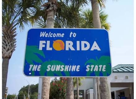 Welcome to Florida, the Sunshine State