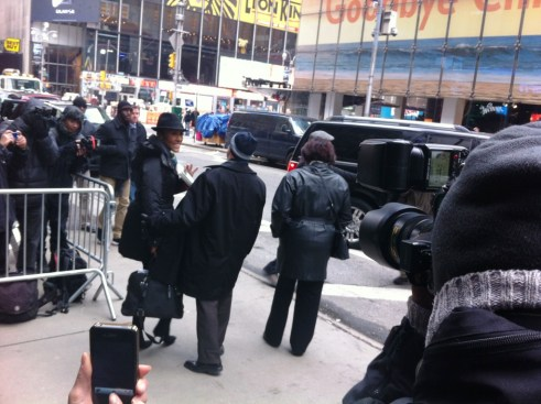 Robin Roberts Glowing as She Leaves GMA Studios Following Her First Day Back After Being Gone for Nearly Six Months, New York City, Feb. 20, 2013