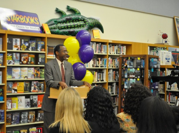 Dr. Ben Carson Shares His Life Growing Up in Poverty with Booker Middle School Students, Sarasota, Fla., Feb. 27, 2013