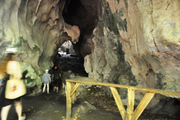 Entering a Cueva de la Línea at Los Haitises National Park, Dominican Republic