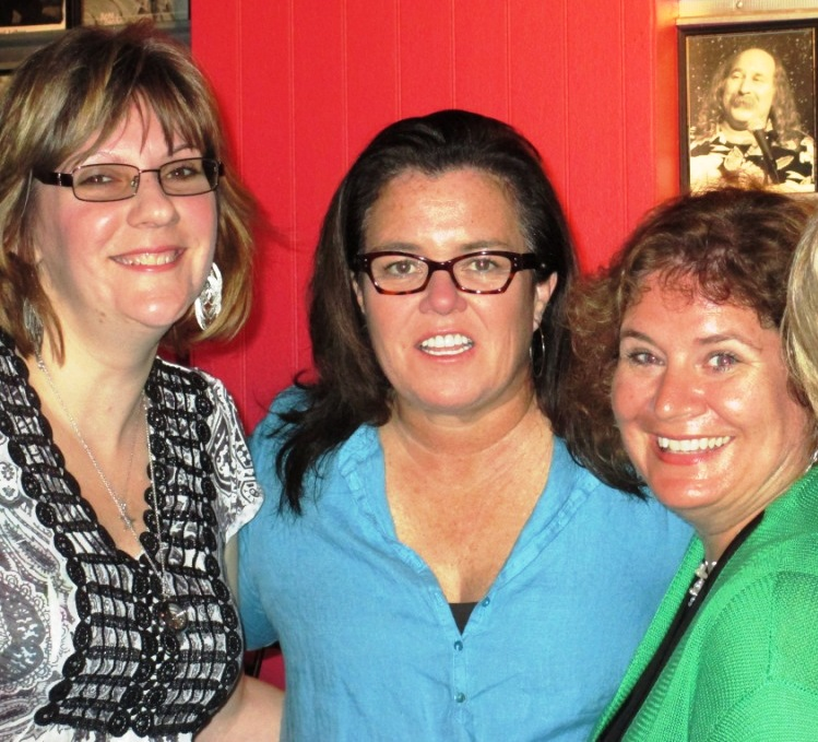 My Friend VM, Rosie O'Donnell, and Me at McCurdy's Comedy Club, Sarasota, Fla., March 22, 2014. Okay, we look like the photo was taken after midnight because it was taken after midnight.