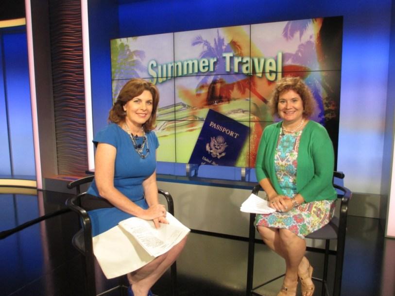 On the Set of WFLA with Anchor Yolanda Fernandez, May 24, 2104