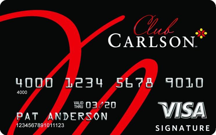 Club Carlson Premier Rewards Visa Signature  Card