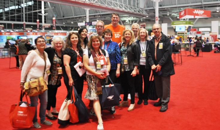 With Fellow Bloggers on the AARP Life@50+ Show Floor