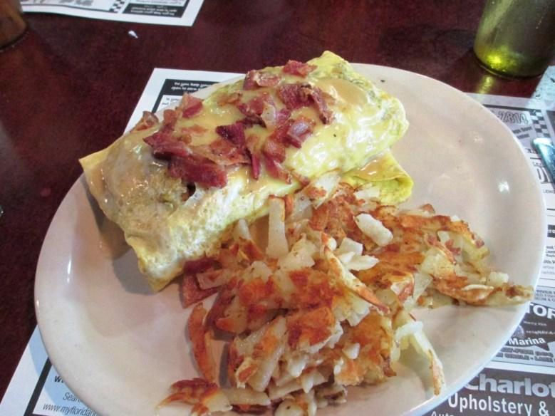 Thanksgiving Omelet from John Ski's House of Breakfast & Lunch in Punta Gorda, Fla. Oh. Freakin' Yeah.