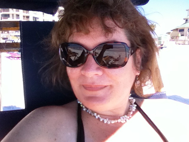 That's Me! Chilling on the Beach Wearing My Onos Reader Sunglasses. You Can Order Some, Too. Save 10% by Visiting www.Onos.com and Enter: #STGOnos
