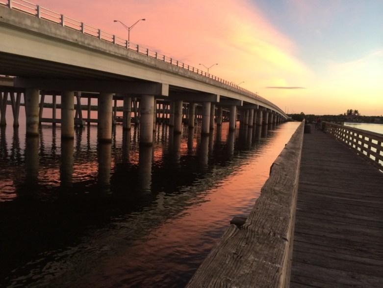 Catching a Sunset - Alone - at the El Jobean Pier, Port Charlotte, Fla., Jan. 2015