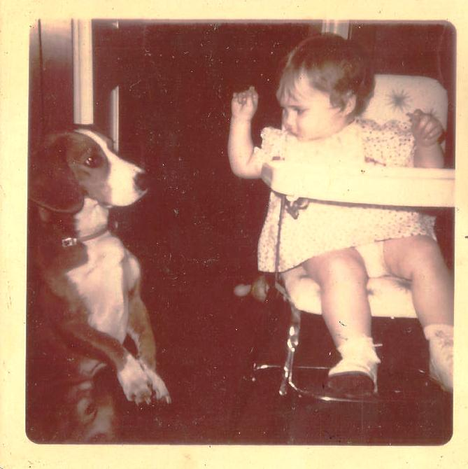 That's Me in 1971 with the Family Dog, Ahern. I Was About 1!