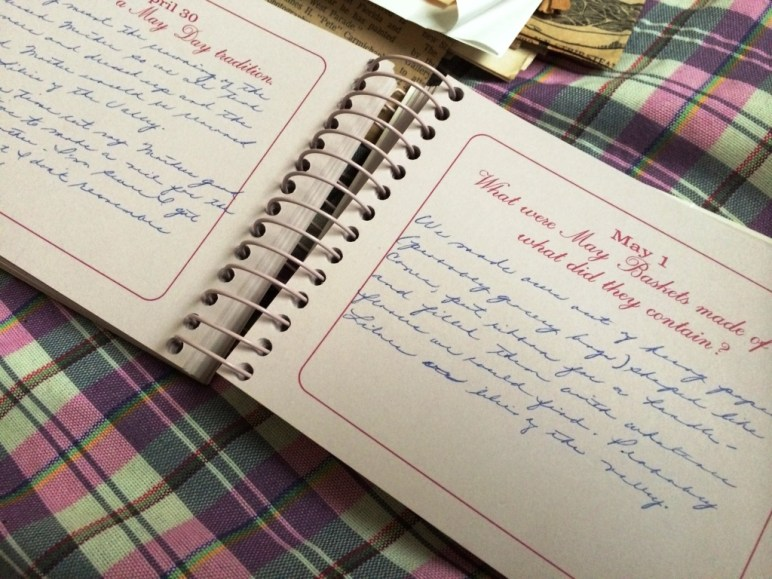 "An Entry My Grandmother Made in the ""Grandma, Tell Me Your Memories"" Journal"