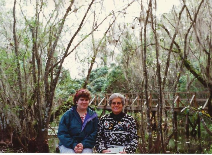 Me with Grandma B in Big Cypress National Preserve, 1991