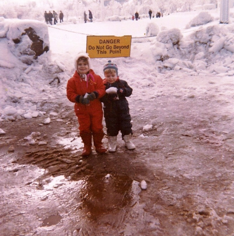 My Brother and I Visiting Niagara Falls in the Winter When We Were Kids