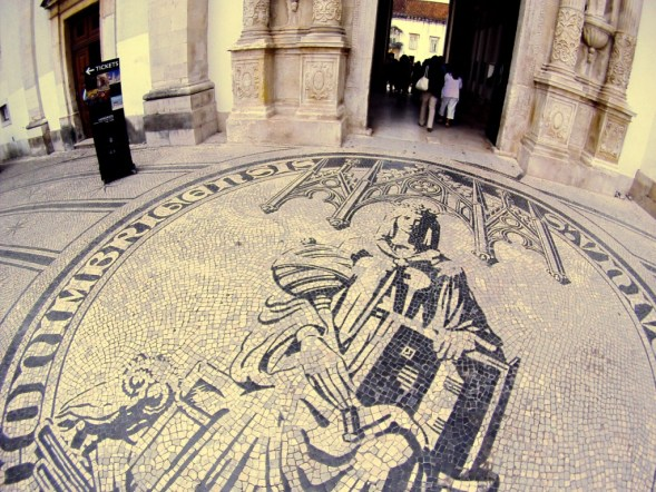 Travel to Portugal: Step On the Seal of the University of Coimbra to Gain Knowledge