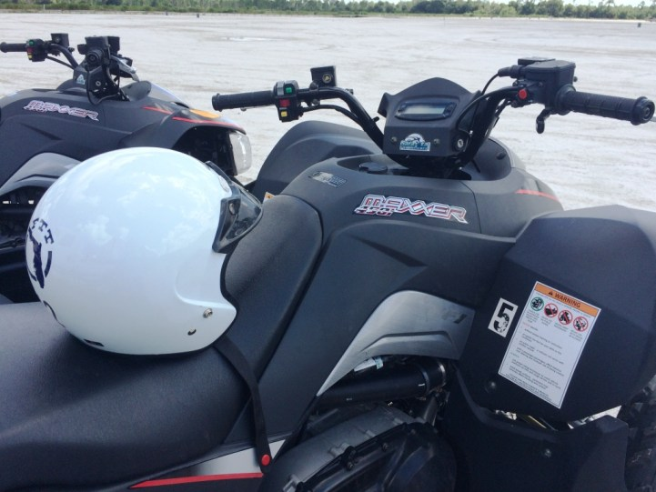 My Helmet Before Heading Out on the ATV Trail at Florida Tracks & Trails, Punta Gorda, Fla.
