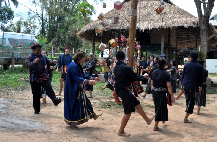 The Tai Dam People Dance to Ward Off Bad Spirits and Thank the Good Spirits, Loei Province, Thailand, March 2015