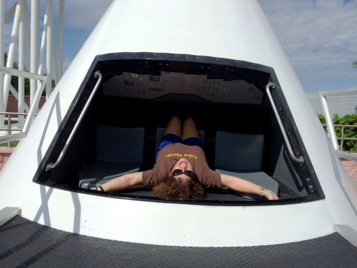 Me in a Apollo Capsule, Kennedy Space Center Visitor Complex, Oct. 2015