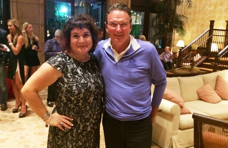 That's Me with Jimmy Connors During the Legends of Boca Experience Media Reception, Boca Raton Resort, Nov. 13, 2015