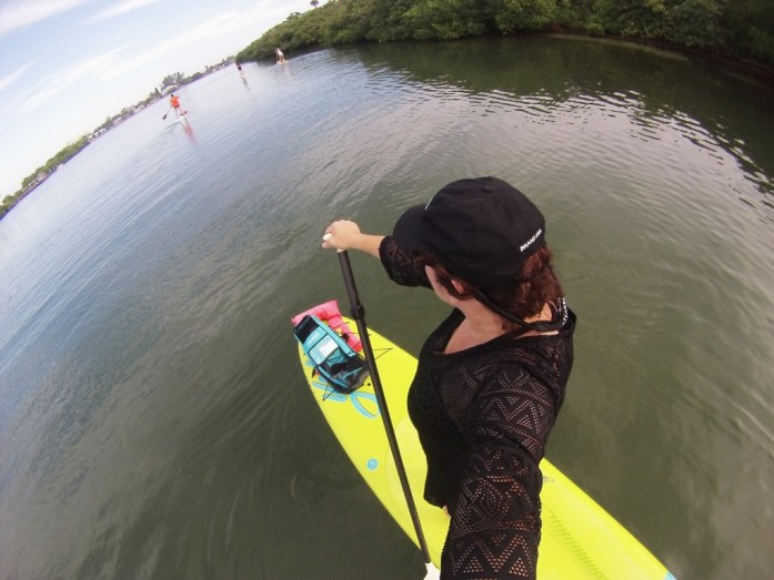 Selfie while participating in Hooked on SUP's SUP and Snorkel trip, Englewood, Fla., Sept. 2015