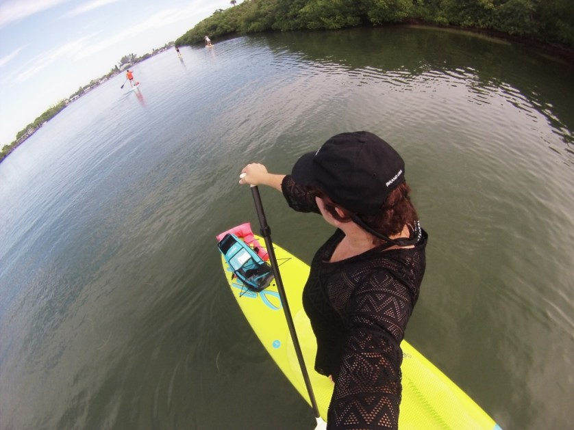 Selfie While Stand-Up Paddle Boarding, Sept. 2015.