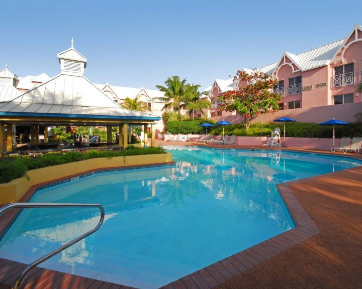 An Inviting Pool at the Comfort Suites Paradise Island, Bahamas.