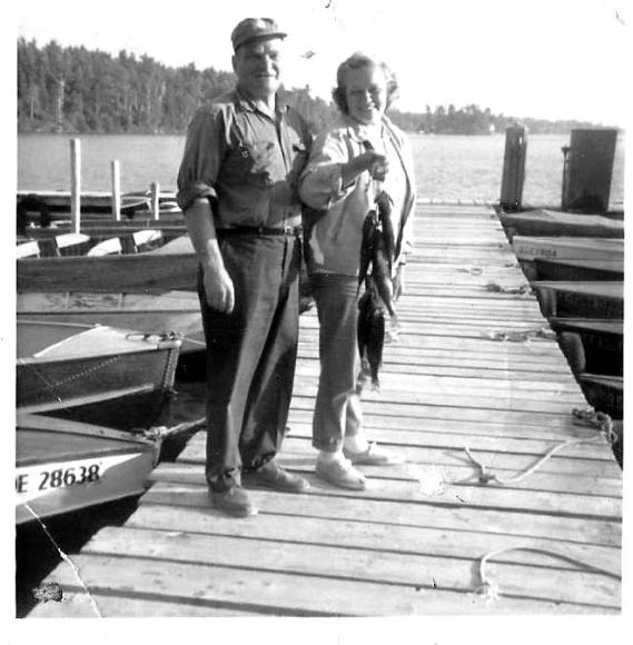Grandpa and Grandma H. After Fishing from a Boat Up North. Sadly, I Never Knew this Grandpa.