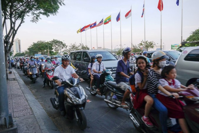 Motorbikes in Ho Chi Minh City, Vietnam, April 2016