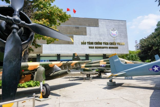 Visited the War Remnants Museum in Ho Chi Minh City, Vietnam, with Urban Adventures, April 2016
