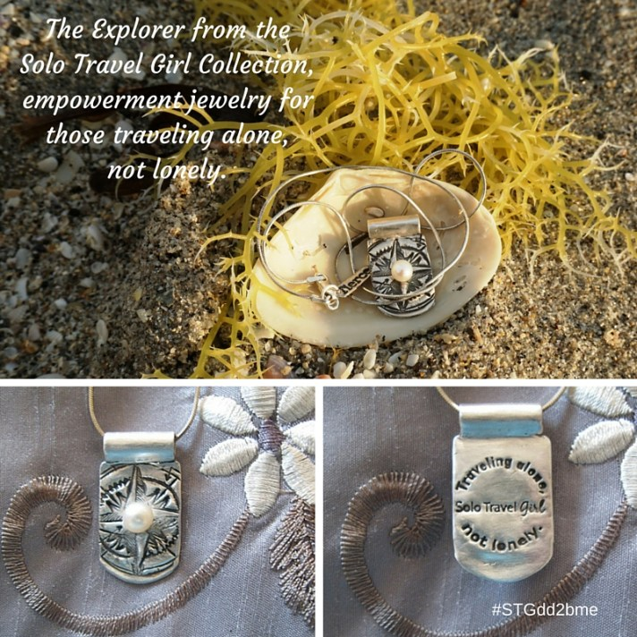 Solo Travel Girl Collection, Empowerment Jewelry for Traveling Alone, Not Lonely.