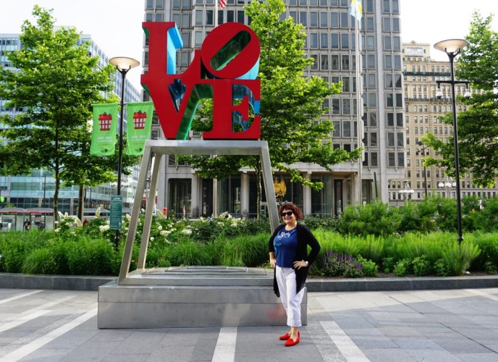 It's Pretty Easy to Find Someone to Snap Your Photo at the Love Sculpture When You're Traveling Solo in Philadelphia