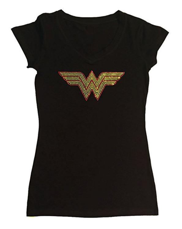 Wonder Woman T-Shirt with Rhinestones