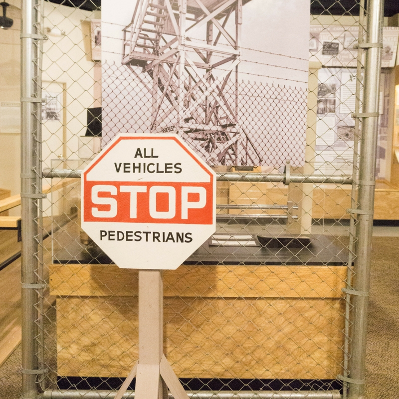 STOP! In the Name of Security. I Was Too Afraid to Snap a Photo at the Entrance to the Manhattan Project, This Display is at the American Museum of Science and Energy. , Oak Ridge, Tennessee, May 5, 2017.
