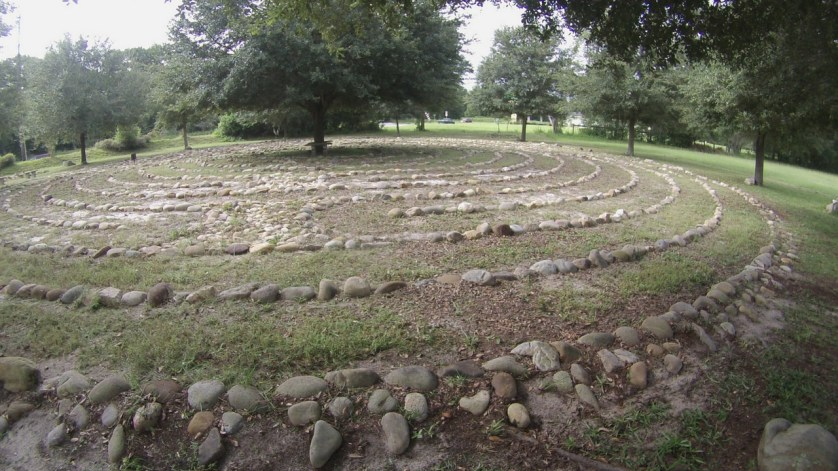 Labyrinth in the Peace Park at First Congregational United Church of Christ.