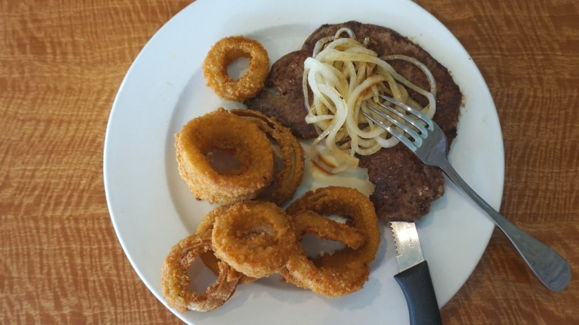 Liver and Onions and Onion Rings at Ben's Family Diner in Brandon, Fla