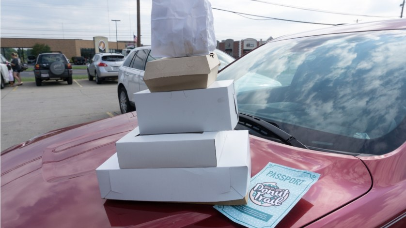 Stack of TEN Donuts from the Butler County Donut Trail, Aug. 2018