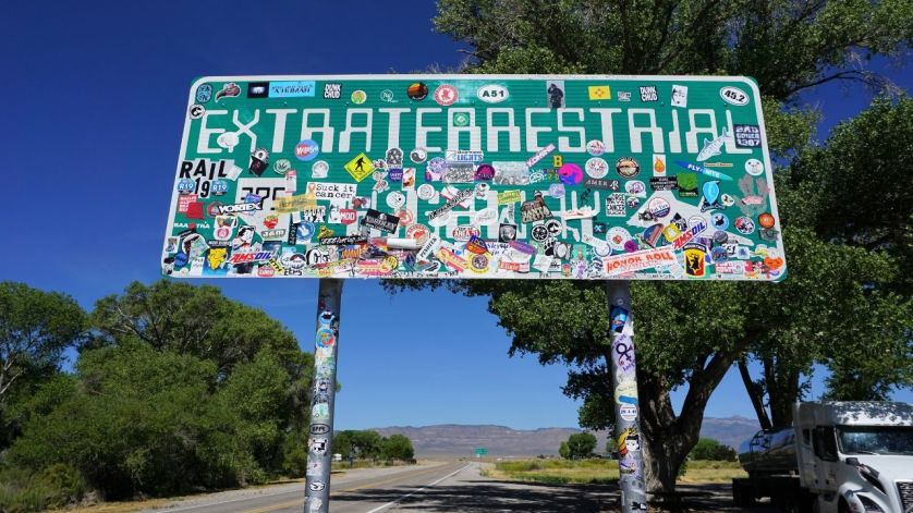 Since 1996, Nevada SR 375 Has Been Called the Extraterrestrial Highway, because of numerous UFO sightings. #ETHwy