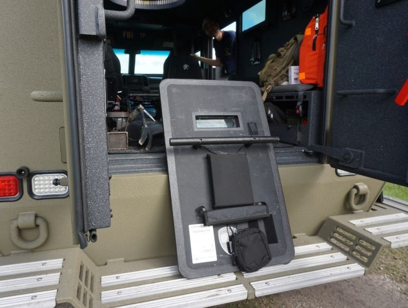 A Shield Used by the FBI SWAT Team, Fall 2019.