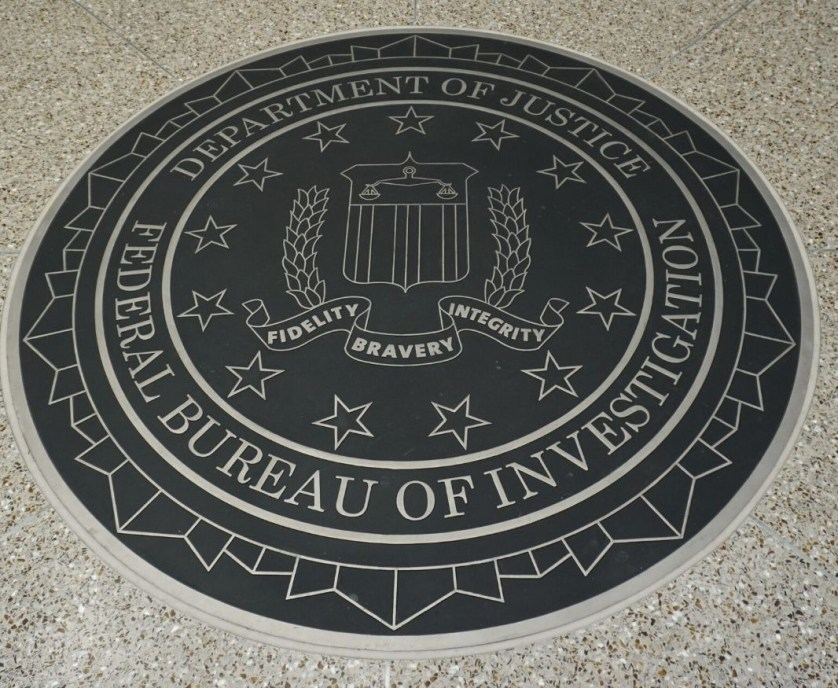 Federal Bureau of Investigation Seal at the FBI Academy in Quantico, Va., Dec. 2019.