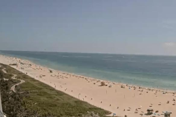 Miami Beach, Florida, Beach Cam.