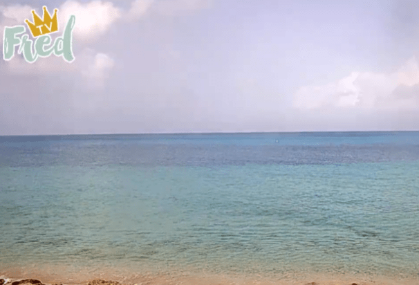 Peaceful View of St. Croix in the U.S. Virgin Islands as Seen from The Fred Hotel Webcam.