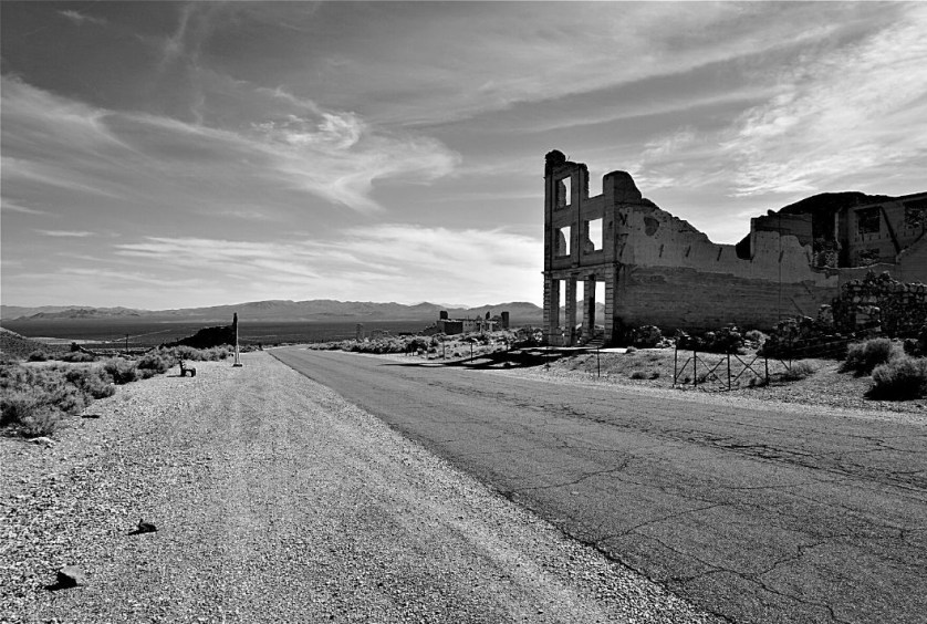 Cook  Bank Building Ruins in Rhyolite, Nev.- the Most Photographed Building in the West! (According to BLM), July 2019.